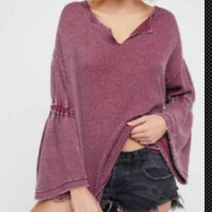 🧜‍♀️Free People Dahlia Thermal Knit Sweater